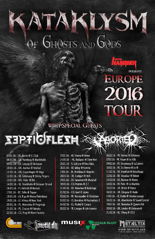 Kataklysm Septic Flesh Aborted 2016