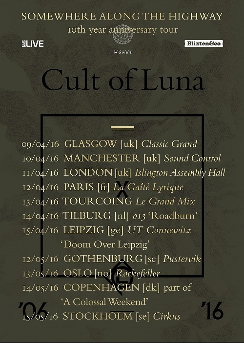 cult of luna live tour poster