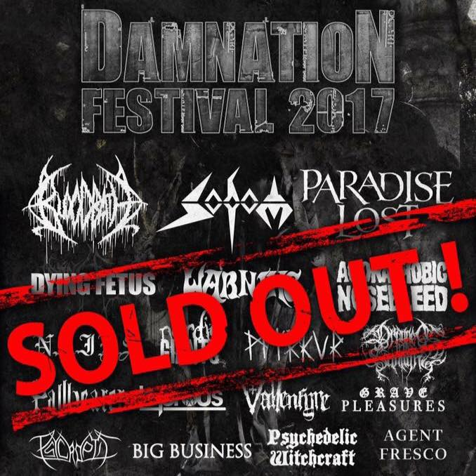 Damnation Festival 2017 – Preview – 5 Bands Not to Miss