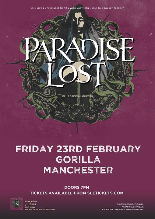Paradise Lost Manchester