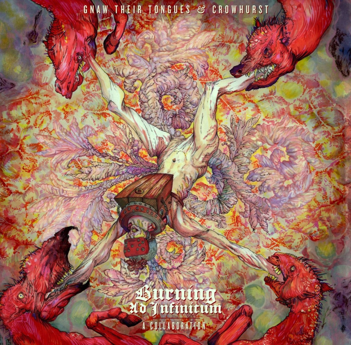 Gnaw Their Tongues & Crowhurst - Burning Ad Infinitum: A Collaboration (Review)