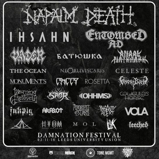 Damnation Festival 2018 Header