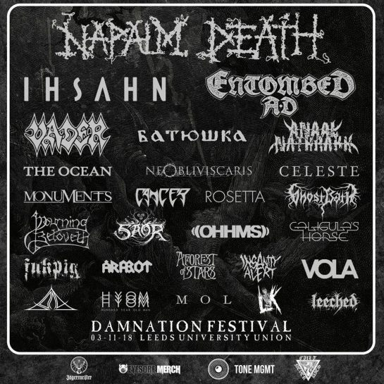 Damnation Festival 2018 Header