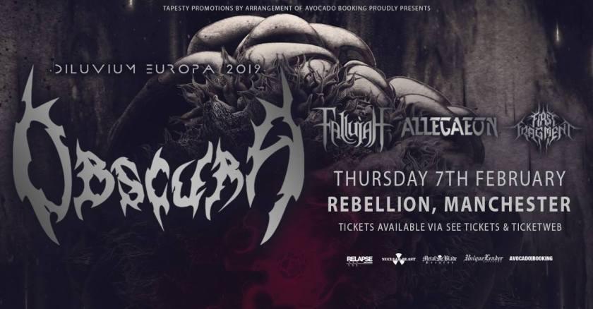 Diluvium Europa 2019 Tour - First Fragment Allegaeon Fallujah Obscura – Manchester Rebellion Live Review