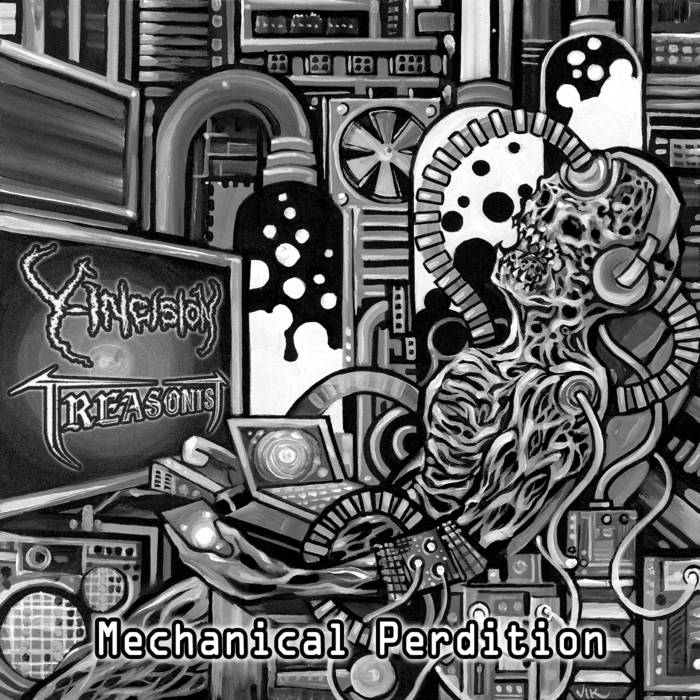 Y-Incision/Treasonist – Mechanical Perdition – Split (Review)